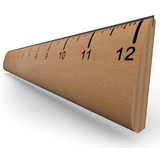 Wooden Ruler to Measure an Object in Experiment or Research