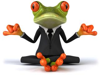 Zen business frog