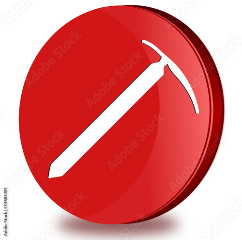 Picket glossy icon
