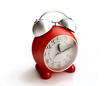 Isolated Red Alarm Clock in 3D