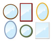Set of mirrors. Vector illustration. - 33694407