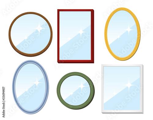 Set of mirrors. Vector illustration. - 33694407