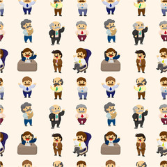 cartoon boss and Manager seamless pattern