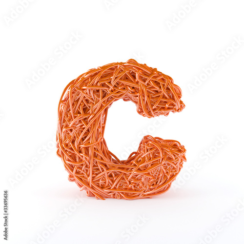 Intertwined letter C