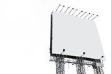 Big white blank billboard