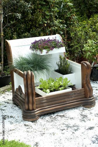 poltona con piante