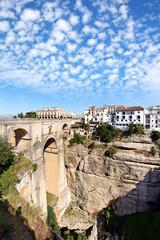 Blick auf Ronda mit Puente Nuevo, Spanien