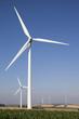champ d'éoliennes terrestres