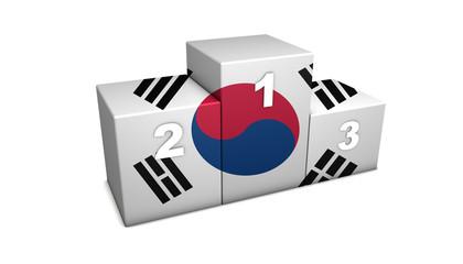 South Korean Podium