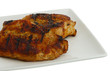 Grilled chops on square plate