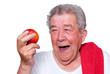 Sportlicher Senior sorgt für Vitamine