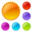 Splash vector icons set