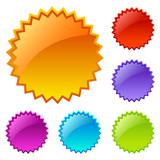 Fototapety Splash vector icons set