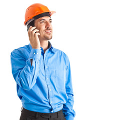 Engineer talking at the phone