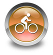 "Orange Glossy Pictogram ""Bicycle Trail"""