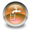 "Orange Glossy Pictogram ""Running Water"""