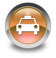 "Orange Glossy Pictogram ""Taxi Cab"""