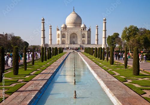 Leinwanddruck Bild Taj Mahal Mausoleum