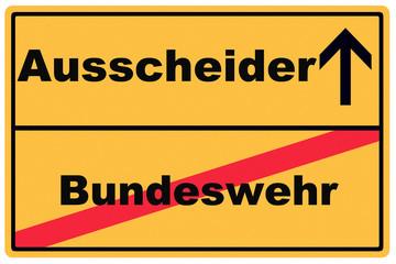 Schild Ausscheider Bundeswehr