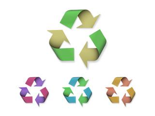Symbole recyclage en couleurs