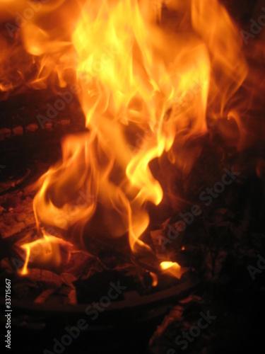Flamme de cheminée