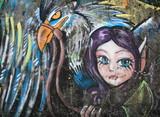 Folletto e aquila della fiabe,murales - 33715873