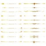 gold line set