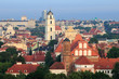 Vilnius old town cityscape, morning