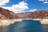 Decreased water level in Black Canyon of Colorado river poster
