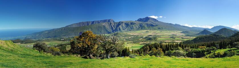 Panoramique du Piton des Neiges, La Réunion.