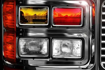 Shiny fire engine lights