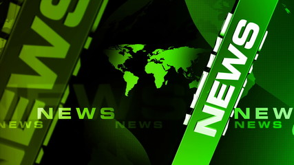 News Vertical GREEN broadcast background