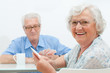 Aged couple leisure