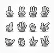 Cartoon Hands collection ,vector