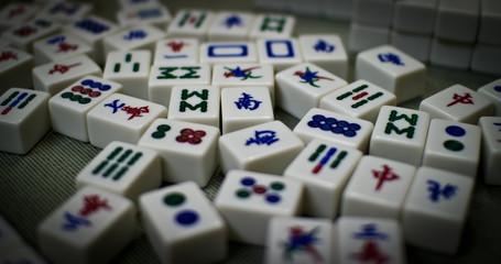Chinese gambling game tiles