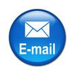 Boton brillante simbolo y texto E-mail