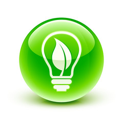 icône ampoule écologie / ecological light bulb icon