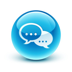 icône conversation / speech bubble icon
