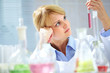 Pensive chemist