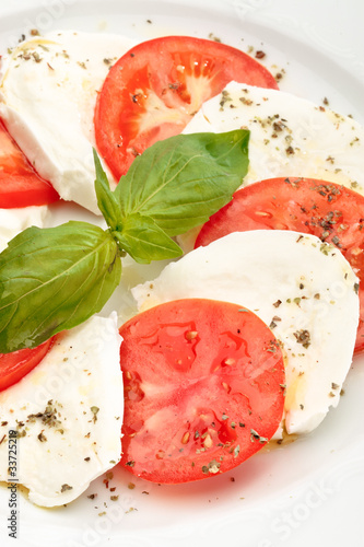 Close up of Caprese salad