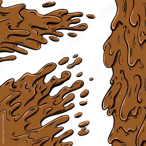 Mud splashes cartoon