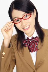 眼鏡の女子高校生