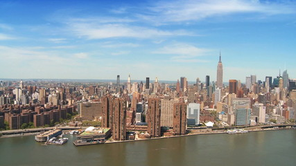 Aerial view of Midtown Manhattan, NY, USA