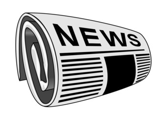 Rolled newspaper vector