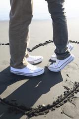 江ノ島のカップルの足