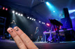 Finger Hug at an open-air live concert