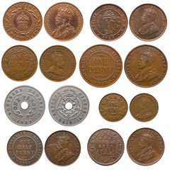 collection of old coins (africa and british north borneo)