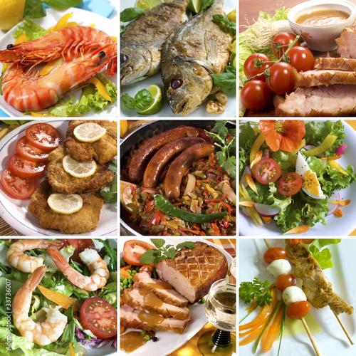 Speisen Collage