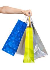 Hand mit Einkaufstüten