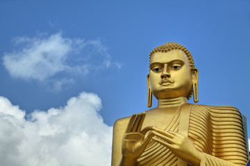 Golden Buddha Statue in Dambulla, Sri Lanka